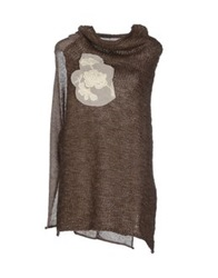 Rose' A Pois Sweaters Beige