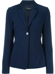 Twin Set One Button Blazer Blue