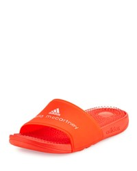 Adidas By Stella Mccartney Recovery Molded Slide Sandal Coral Red