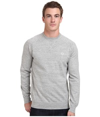 Fred Perry Marl Crew Neck Sweater Stone Marl Men's Sweater Gray
