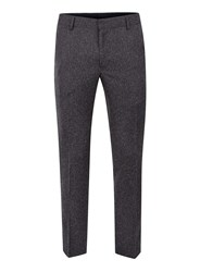 Topman Charcoal Salt And Pepper Ultra Skinny Fit Cropped Smart Trousers Brown