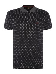Merc Short Sleeve Polka Dot Polo Black