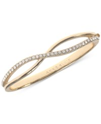 Anne Klein Gold Tone Crystal Crisscross Bangle Bracelet