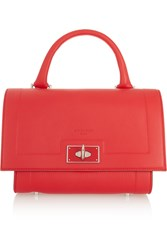 Givenchy Mini Shark Bag In Red Textured Leather