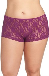 Hanky Panky Plus Size Women's High Waist Boyshorts Fine Wine