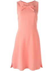 Boutique Moschino Front Bow Dress Pink And Purple