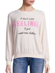 Wildfox Couture New Clothes Kim Raglan Sleeve Sweatshirt Vanilla Latte