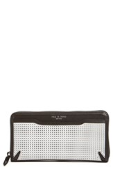 Rag And Bone Women's Rag And Bone 'Crosby' Perforated Leather Continental Wallet