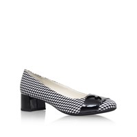 Anne Klein Hastobe Mid Heel Slip On Loafers Black White