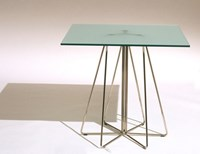 Knoll Paperclip Outdoor Square Table