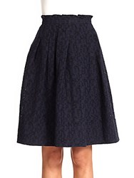 Piazza Sempione Jacquard Full Skirt Navy