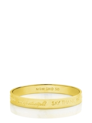 Kate Spade Mom Idiom Bangle Engraved Gold