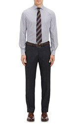 Drakes Drake's Men's Striped Dress Shirt Navy