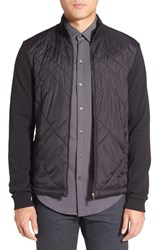 Boss Men's 'Shepherd' Diamond Quilted Jacket Black