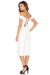 Lucca Couture Ballerina Off Shoulder Cropped Jumpsuit Ivory