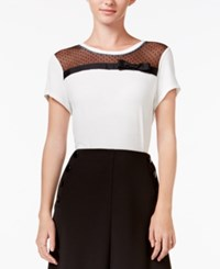 Maison Jules Bow Illusion Top Only At Macy's Egret