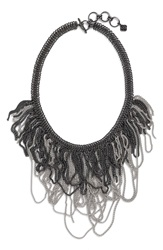 Kendra Scott 'Mystic Bazaar Margot' Chain Bib Necklace Gunmetal Rhodium