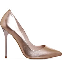 Office On To Point Metallic Leather Courts Rose Gold Leather 2