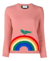 Gucci Wool Rainbow Knit Pink