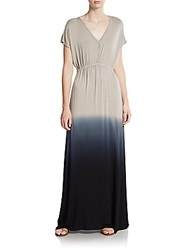 Saks Fifth Avenue Blue Dip Dye Maxi Dress Grey Ombre
