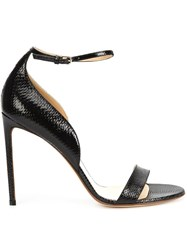 Francesco Russo Ankle Strap Stiletto Sandals Black