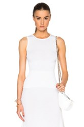 Calvin Klein Collection Willowis Silk And Cotton Rib Tank In Neutrals