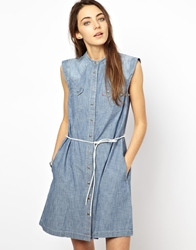 Levi's Denim Dress With Belt Blue