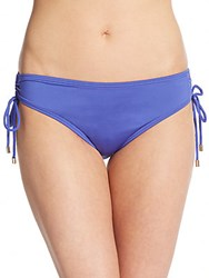 Calvin Klein Shirred Bikini Bottom Vivid Purple