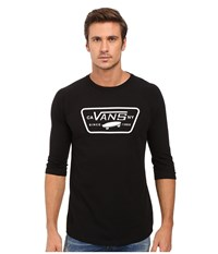 Vans Full Patch 3 4 Sleeve Raglan Black Black Men's Clothing