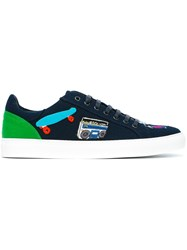 Mira Mikati Patch Detail Sneakers Blue