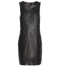 Calvin Klein Jeans Mytheresa.Com Exclusive Racer Zip Leather Mini Dress Black