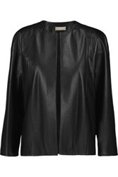 Michael Kors Collection Leather Jacket Black