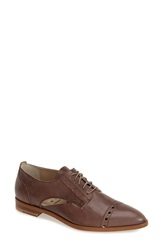 Agl Attilio Giusti Leombruni Cutout Leather Oxford Women Taupe