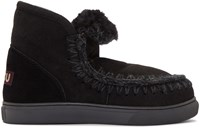 Mou Black Mini Eskimo Boots