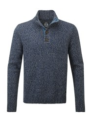 Tog 24 Men's Falmouth Mens Knit Button Neck French Navy
