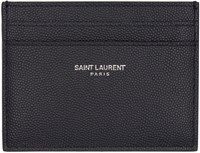 Saint Laurent Navy Leather Card Holder