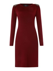 Simon Jeffrey Knitted Dress Red