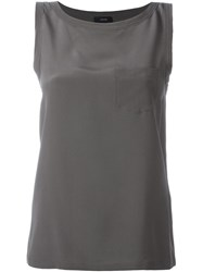 Joseph Chest Pocket Tank Top Grey