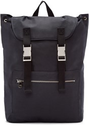 A.P.C. Navy Canvas Jamie Backpack