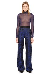 Opening Ceremony Guillochaƒa Jacquard Wide Leg Pants Uv Blue