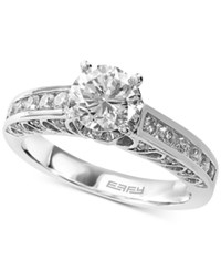 Effy Collection Effy Bridal Diamond Engagement Ring 1 3 8 Ct. T.W. In 14K White Gold