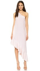 Cynthia Rowley Ruffle One Shoulder Dress Whisper Pink