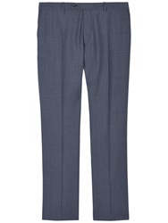 Jaeger Wool Mohair Modern Fit Suit Trousers Chambray