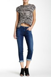 Level 99 Lily Roll Up Cropped Jean Blue