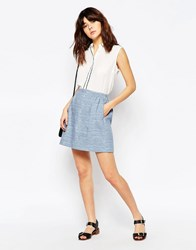 See By Chloe Chambray Mini Skirt Multi