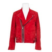 Sacai Biker Jacket Red