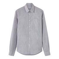 Jigsaw Fine Prince Of Wales Shirt Grey