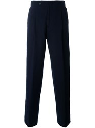 Melindagloss High Waist Pleated Trousers Blue