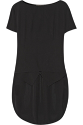 Agnona Asymmetric Silk Crepe De Chine Top