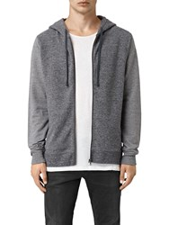 Allsaints Trema Full Zip Hoodie Charcoal Mouline Cement